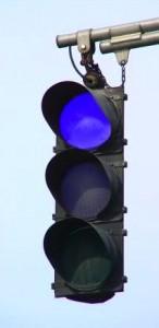 Blue-Traffic-Signal